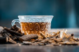 Licorice is commonly used in herbal teas for promoting digestive and respiratory health, but it may also cause serious side effects.