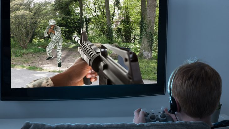A team of researchers designed an experiment to investigate how exposure to weapons in video games may influence the behavior of children when they find a real gun.