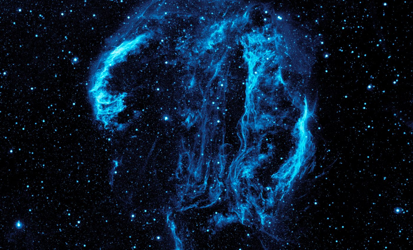 Today's Image of the Day from NASA features an ultraviolet image of the Cygnus Loop nebula, which is about 1,500 light-years from the Earth in the constellation Cygnus.