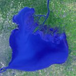 Today's Image of the Day from NASA features Lake St. Clair, which connects Lake Huron to Lake Erie through the St. Clair and Detroit rivers.