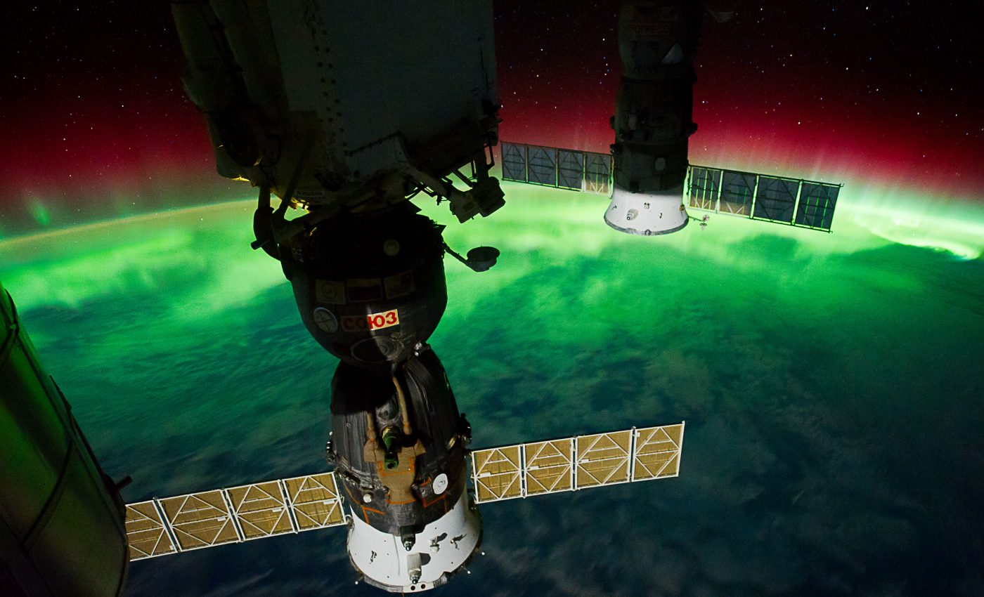 Today's Image of the Day from NASA features Aurora Australis, or the southern lights.