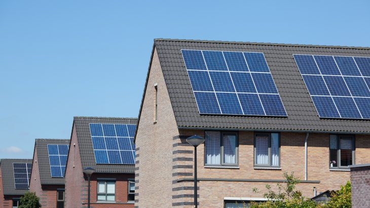 Sustainable net-zero energy communities take advantage of energy efficient buildings, solar power panels, and other renewable energy sources to power homes.