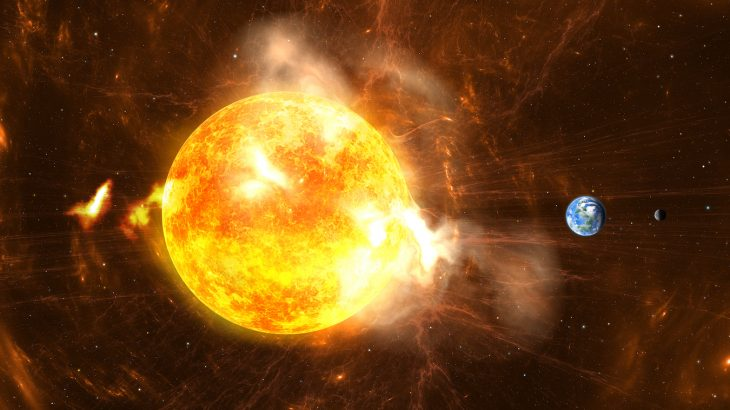 Our sun has flares all the time, but a superflare has a resulting energy blast of radiation that would disrupt electronics across the planet were it to hit the Earth.