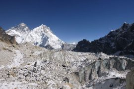 The melting of the Himalayan glaciers has dramatically accelerated, losing about a vertical foot and a half of ice each year since 2000.