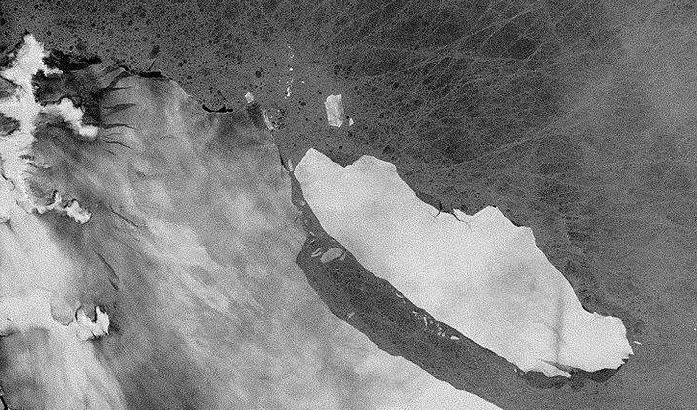Defying all expectations, the Delaware-sized iceberg that broke away from the Larson C ice shelf in Antarctica two years ago has remained relatively intact and is on the move.