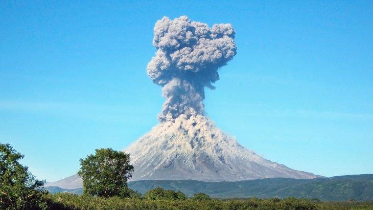 Researchers have constructed a model to help predict how particles move through the atmosphere after being emitted from a large geological event like a volcanic eruption.