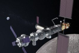 An artist's rendering of Gateway. NASA is sharing some of its plans for a proposed lunar space station known as Gateway. The American agency is working with Russia on the plans, and has invited the European Space Agency to get involved as well. (Image credit: NASA)