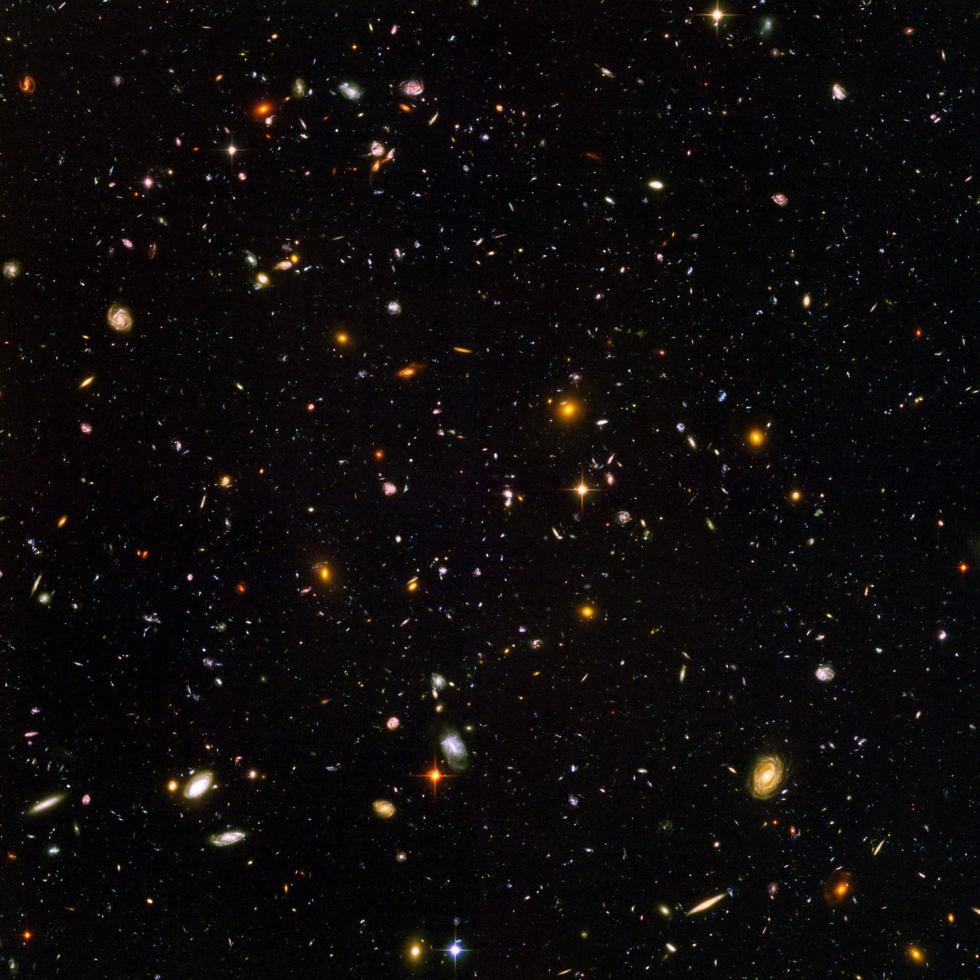 Hubble Ultra Deep Field Star Pictures