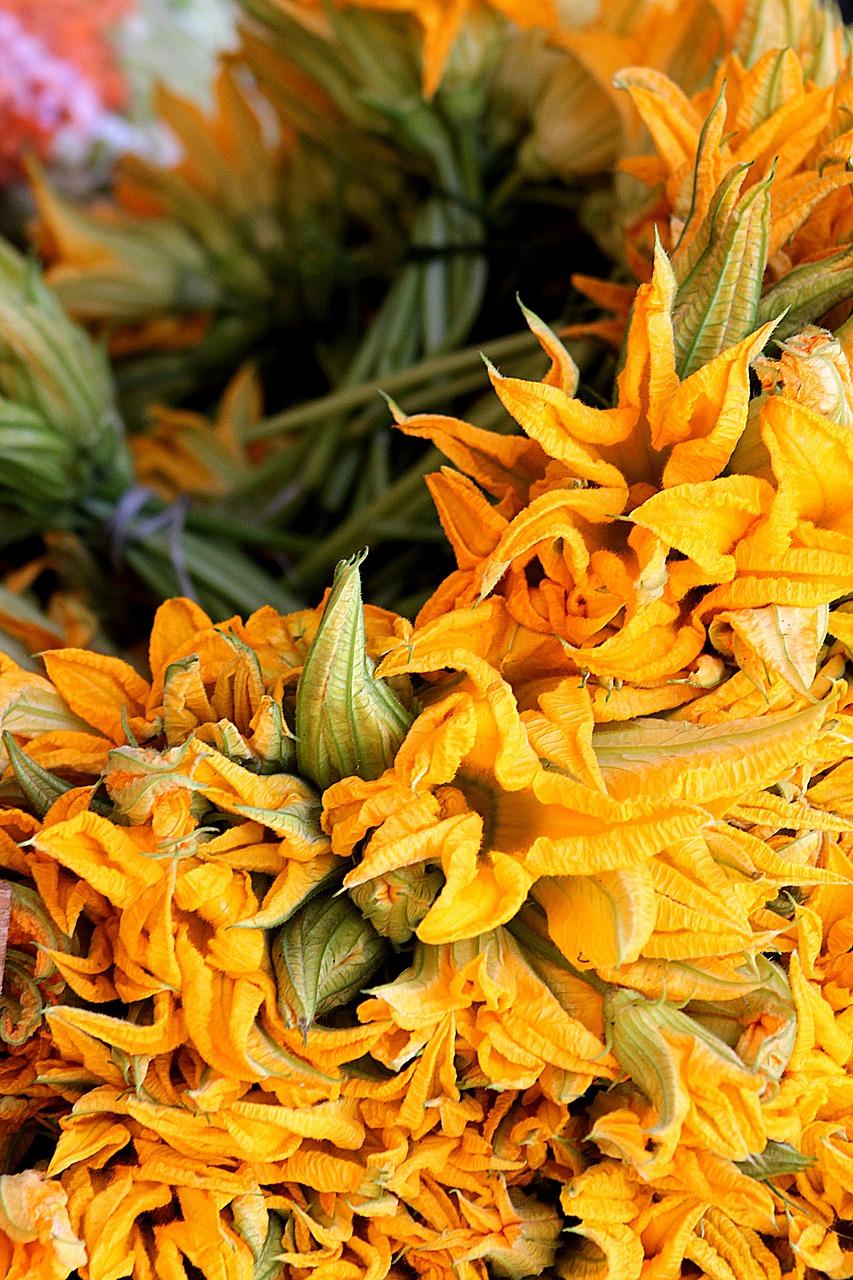 edible flowers, squash blossom