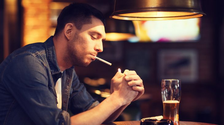 Both nicotine and alcohol use within four hours of bedtime led to worse sleep continuity, according to a new study.