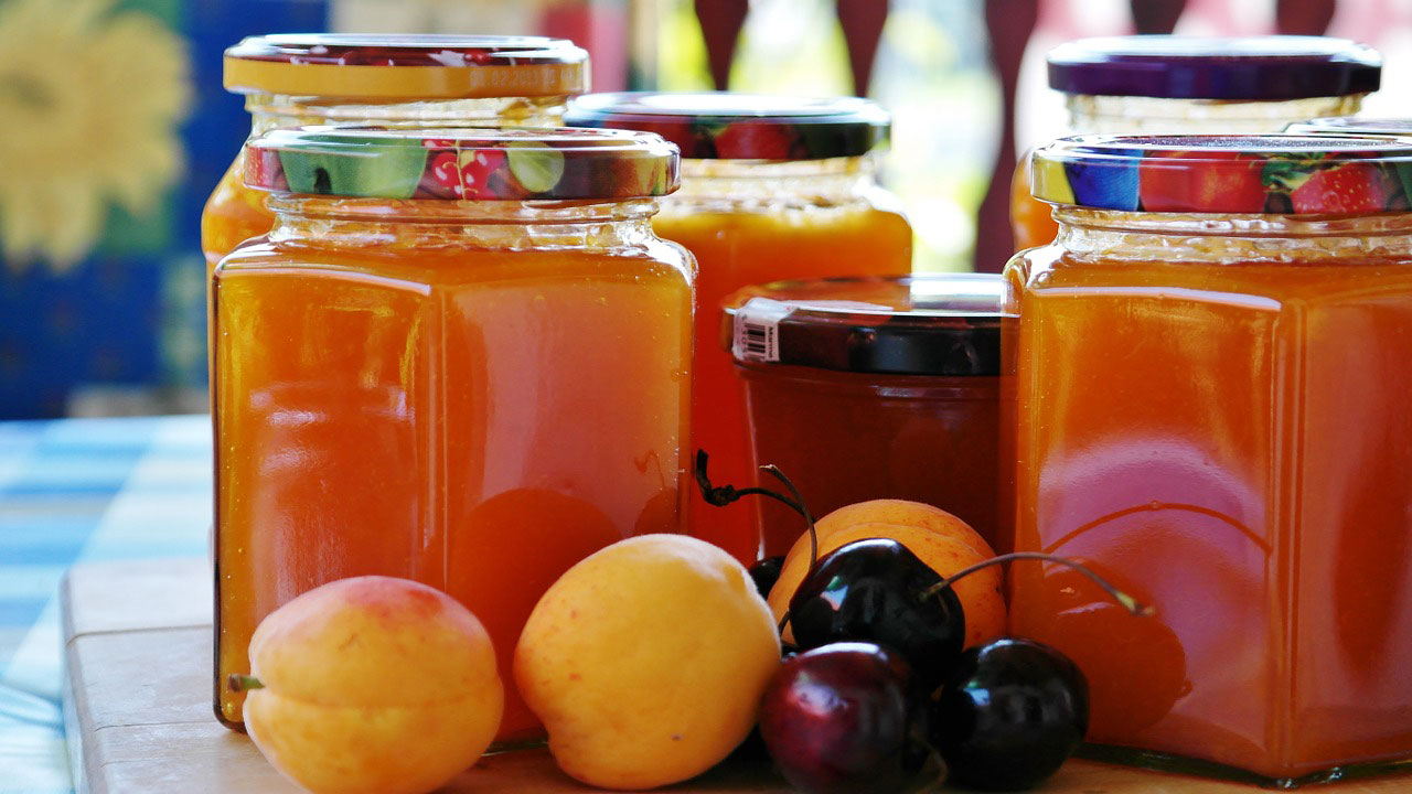 jam preserves jelly apricot cherry