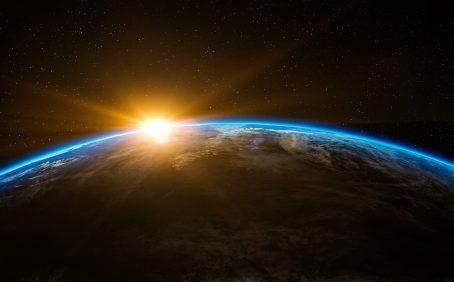 sunrise over earth holocene vs anthropocene