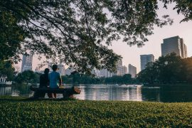 The first study of its kind has found that a visit to a city park helps improve mood and can make people feel as happy as they do on Christmas.