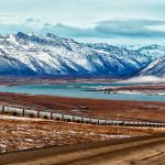 The Alaska Oil Pipeline is seen. Final plans have been released to open the Arctic National Wildlife Refuge to oil drilling.