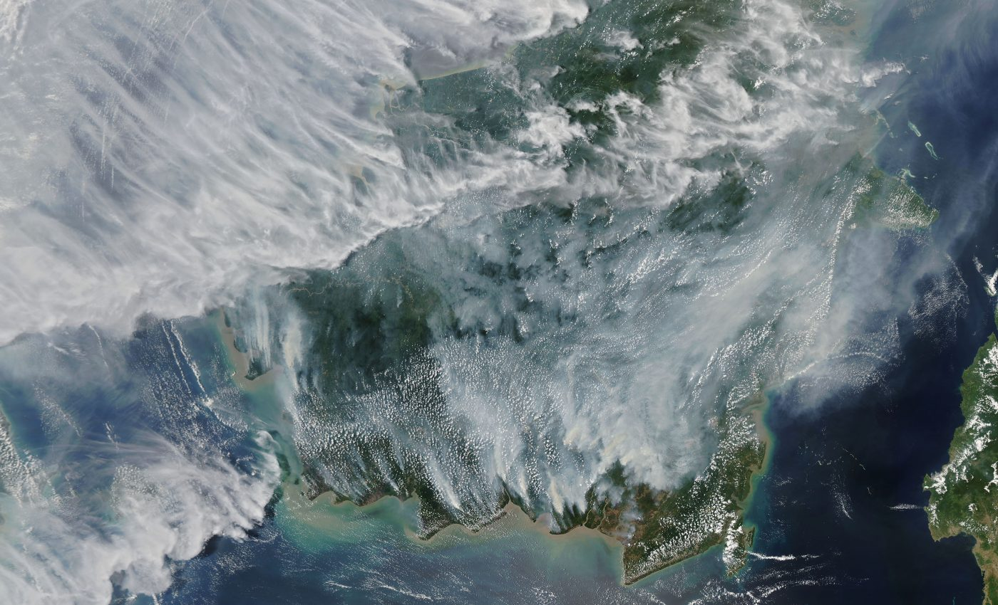 Hundreds of fires are burning across Indonesia