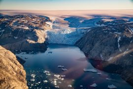 Thick slabs of ice are rapidly replacing thinner ice across the interior of Greenland's ice sheet as a result of global warming.