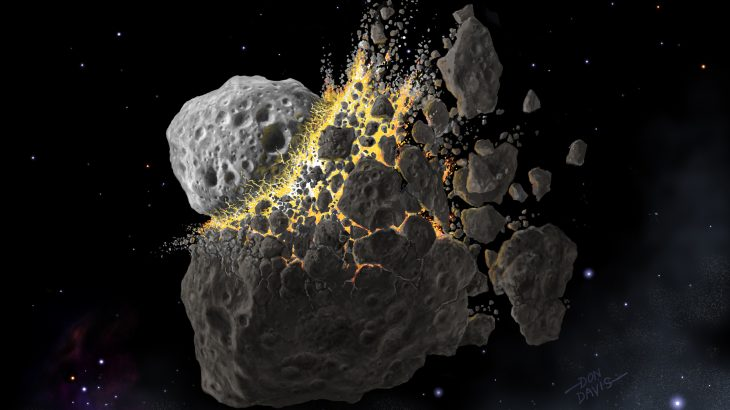 Dust from an asteroid collision that rained down on Earth over two million years correlates with an ancient ice age, the cause of which was unknown until now.