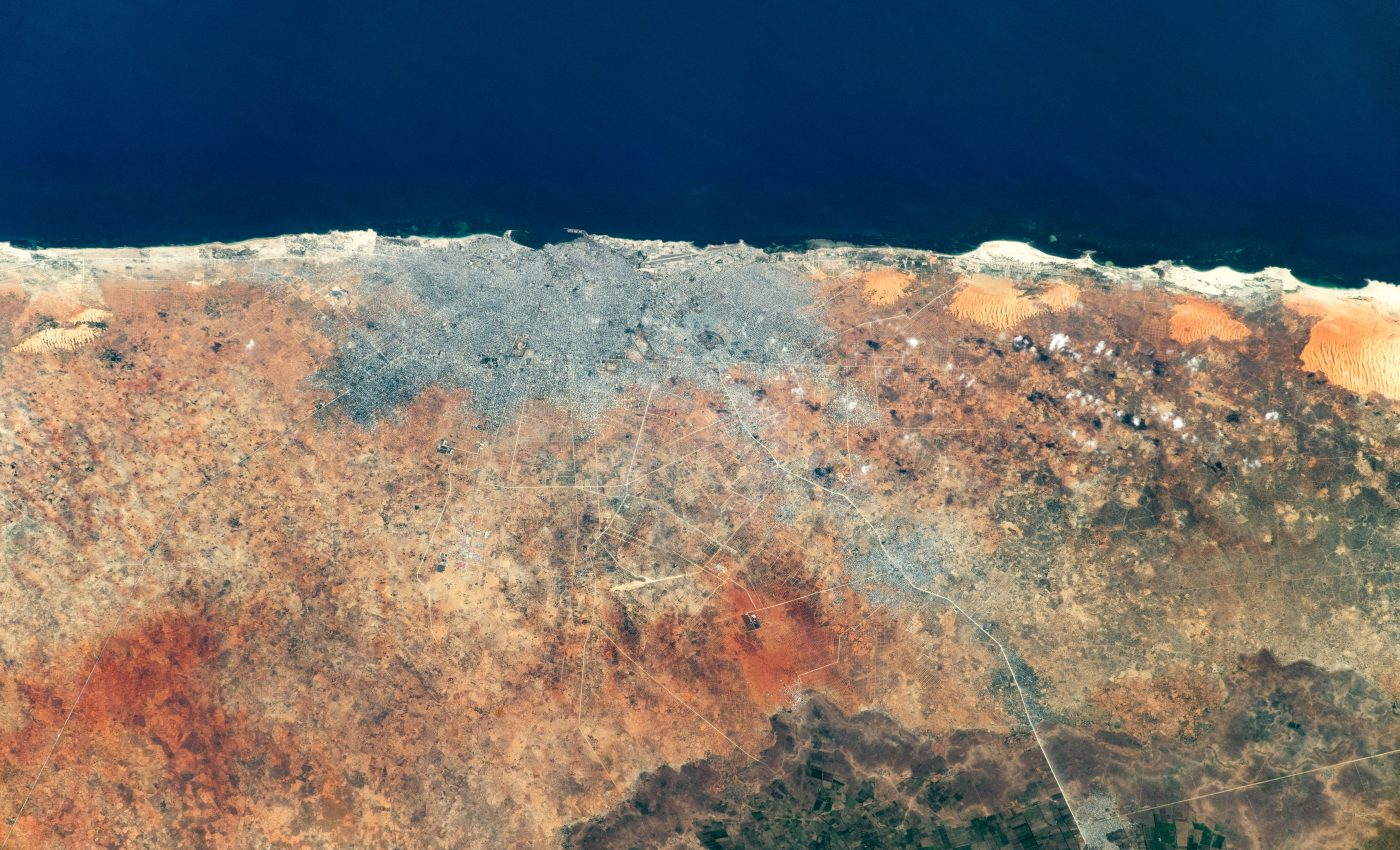 Today's Image of the Day from NASA Earth Observatory features Mogadishu, the capital city of Somalia.