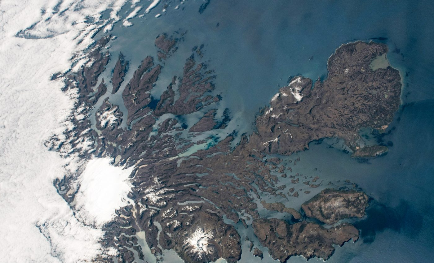 Today's Image of the Day from NASA Earth Observatory features an astronaut view of the Kerguelen Islands in the southern Indian Ocean.