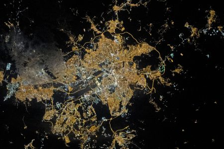 Today's Image of the Day from NASA Earth Observatory features a nighttime view of Ankara, the capital city of Turkey.