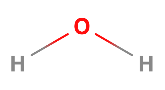 distilled water molecule