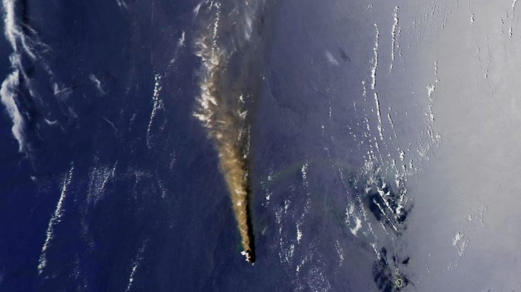 Today's Image of the Day from NASA Earth Observatory features Nishinoshima, a young volcanic island that has been increasingly active in recent weeks.
