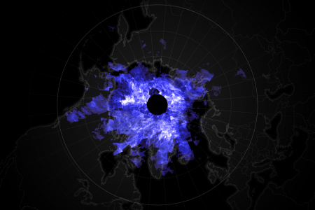 Today's Image of the Day from NASA Earth Observatory shows electric blue clouds that form every summer high above the Northern Hemisphere.