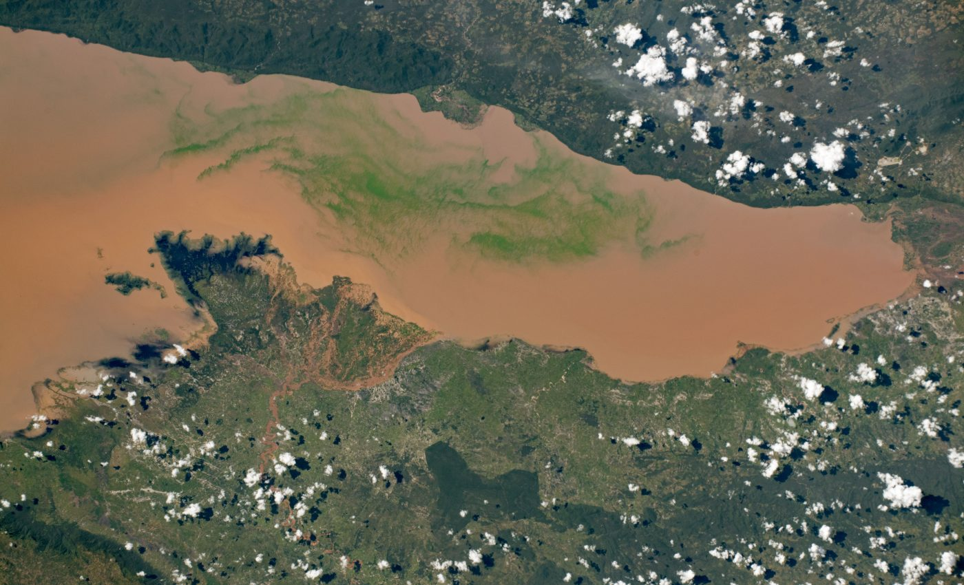 Today's Image of the Day from NASA Earth Observatory features Lake Rukwa in the East African country of Tanzania.