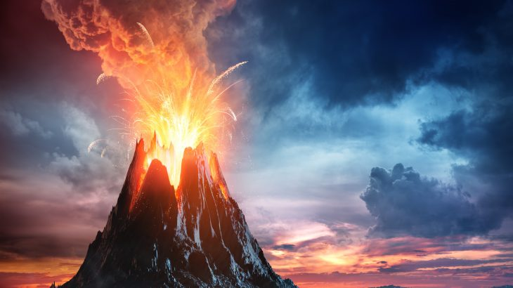 A rapid cooling event 13,000 years ago was triggered by volcanism, rather than the impact of a fragmented comet or asteroid,