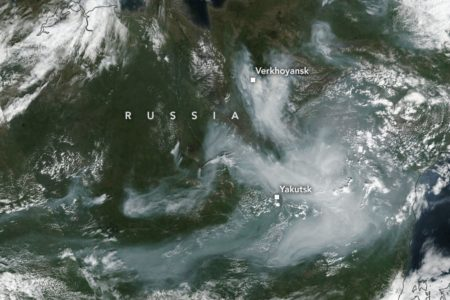 Today's Image of the Day from NASA Earth Observatory features a satellite view of intense summer wildfires in eastern Siberia. In recent years, fires in this part of Arctic Russia have become more abundant, frequent, and destructive.