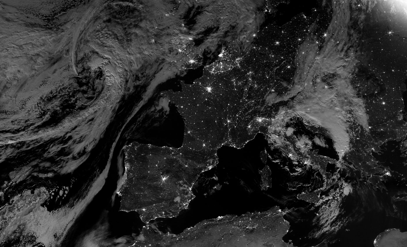 Today's Image of the Day from NASA Earth Observatory features a nighttime view of Western Europe.
