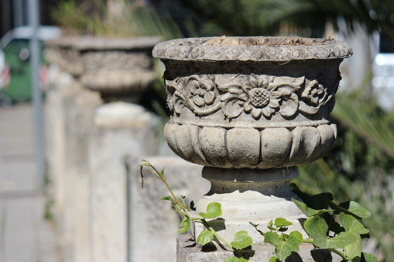 stone plant pot planter
