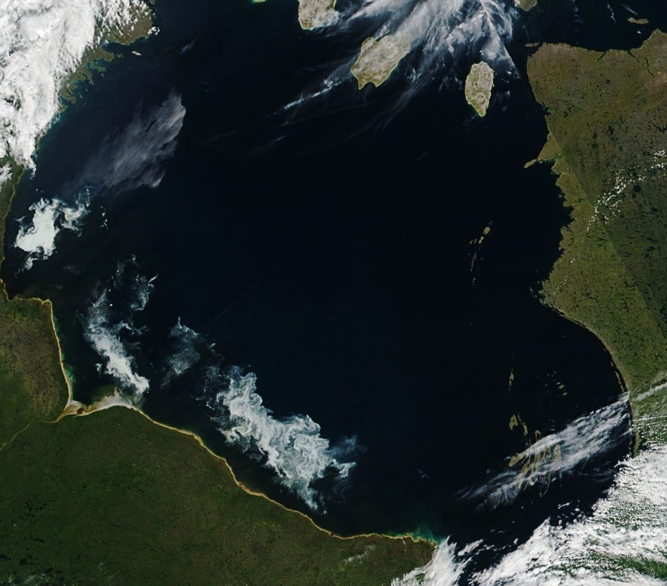 Today's Image of the Day from NASA Earth Observatory features Hudson Bay, which is an inland sea in the Arctic Ocean.