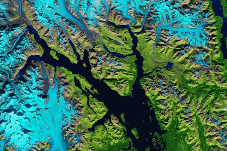 Today's Image of the Day from NASA Earth Observatory features Glacier Bay in southeast Alaska.