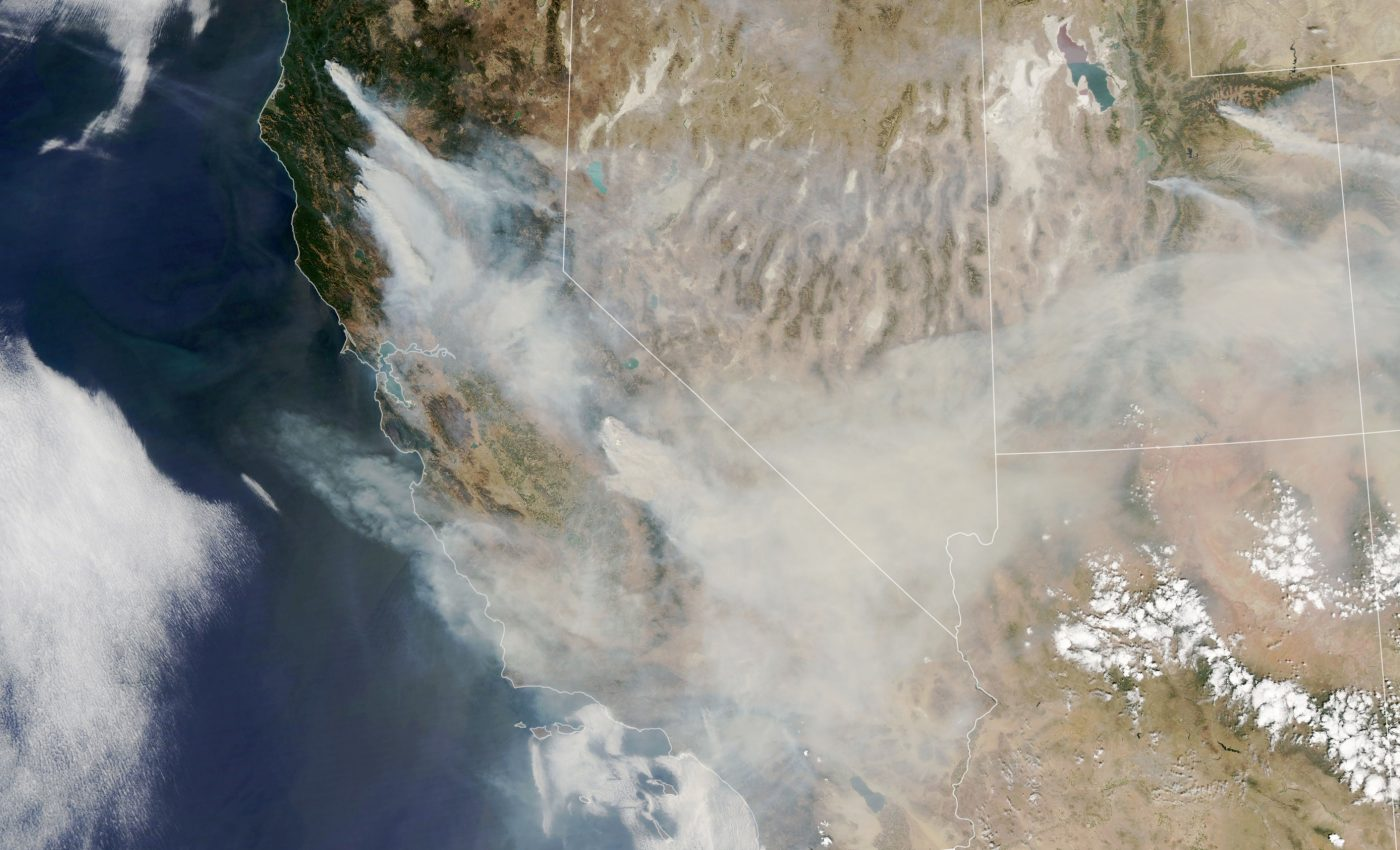 Today's Image of the Day from NASA Earth Observatory shows fire activity in the western United States that has been fueled by heat and drought.