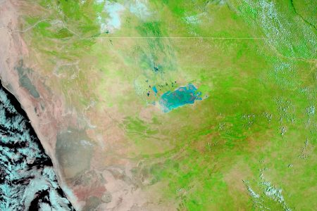 Today's Image of the Day from NASA Earth Observatory features Etosha National Park in Namibia, where seasonal rains between October and March typically transform the landscape.