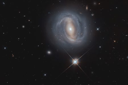 Today's Image of the Day from the European Space Agency features the barred spiral galaxy NGC 4907, which is located 270 million light-years away.