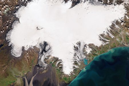 Today's Video of the Day from the European Space Agency features a Copernicus Sentinel-2 view of the Vatnajökull ice cap in southeast Iceland.