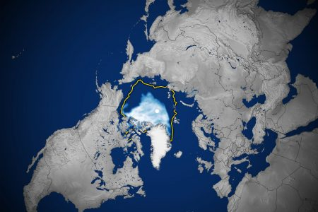 Today's Image of the Day from NASA Earth Observatory shows the 2020 Arctic sea ice minimum, which is the second lowest on record.