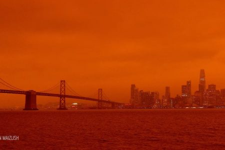Today's Video of the Day from the American Chemical Society describes how shocking red and orange skies have appeared throughout areas of the western United States during devastating wildfires.