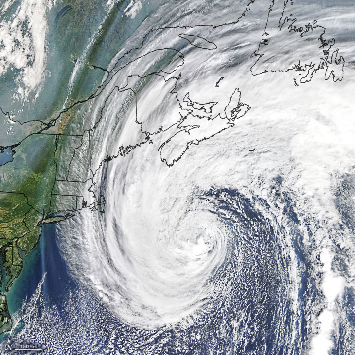 Today's Image of the Day from NASA Earth Observatory shows Hurricane Teddy off the eastern coast of Canada on September 22, 2020.