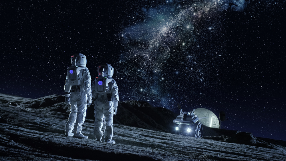 humans on the moon