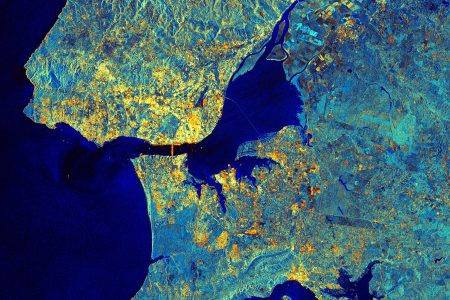 Today's Image of the Day from the European Space Agency features a Sentinel-1A satellite view of Lisbon, the capital city of Portugal.