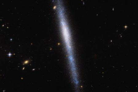 Today's Image of the Day from the European Space Agency features the galaxy UGCA 193 in the constellation Sextans.