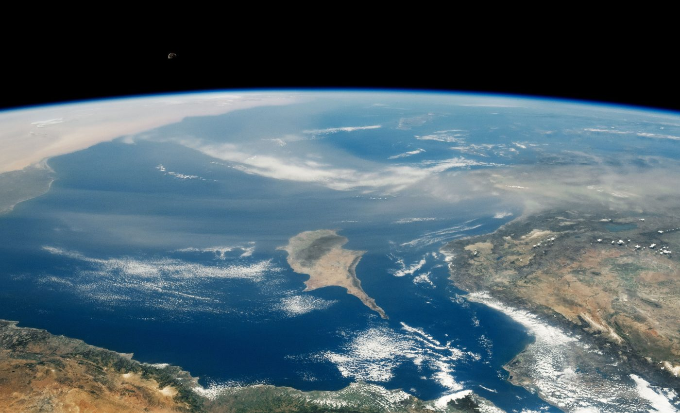 Dust plume stretches over the Mediterranean