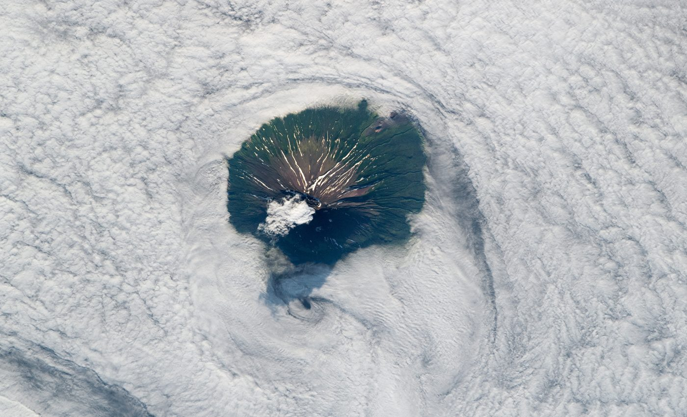 Today's Image of the Day from NASA Earth Observatory features Atlasov Island, which is located near the southern tip of the Kamchatka Peninsula in the Russian Far East.