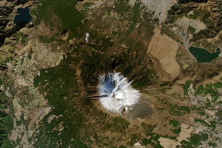 Today's Image of the Day from NASA Earth Observatory features, Mount Fuji, the tallest peak in Japan.