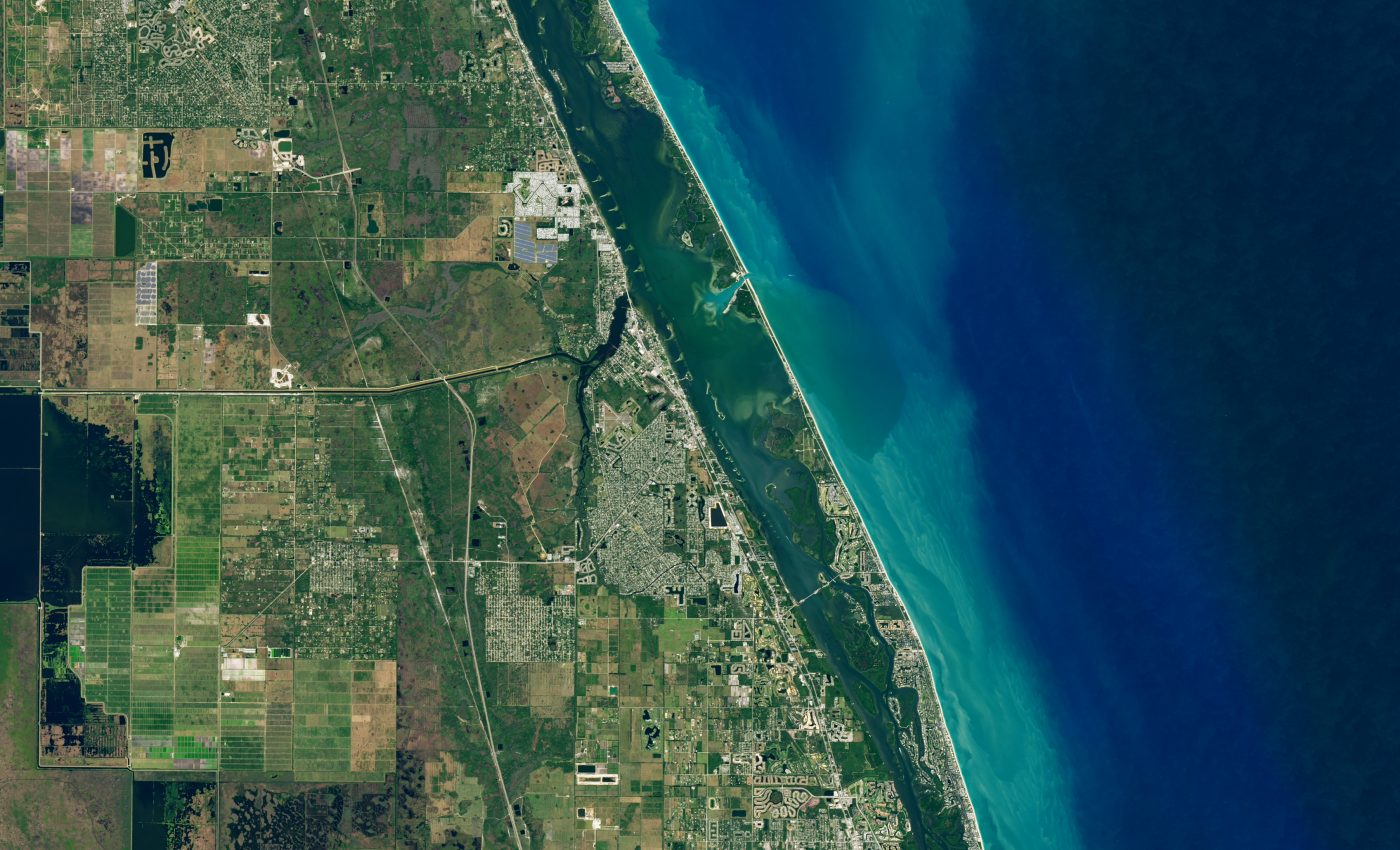 Today's Image of the Day from NASA Earth Observatory features the Indian River Lagoon on the Atlantic coast of Florida.