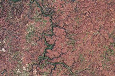 Today's Image of the Day from NASA Earth Observatory features New River Gorge, which was designated in 2020 as the first national park in the state of West Virginia.