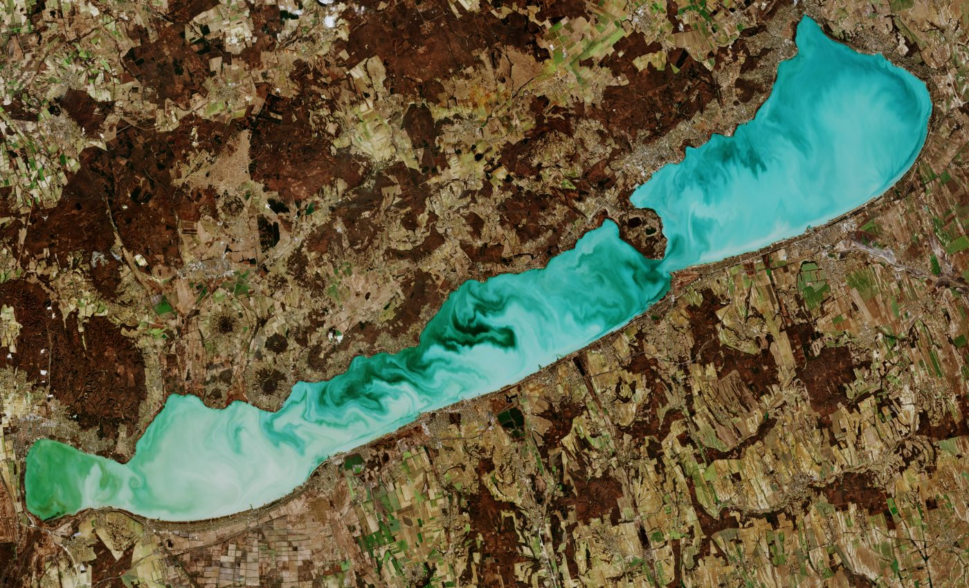 Today's Image of the Day from the European Space Agency features a Copernicus Sentinel-2 satellite view of Lake Balaton